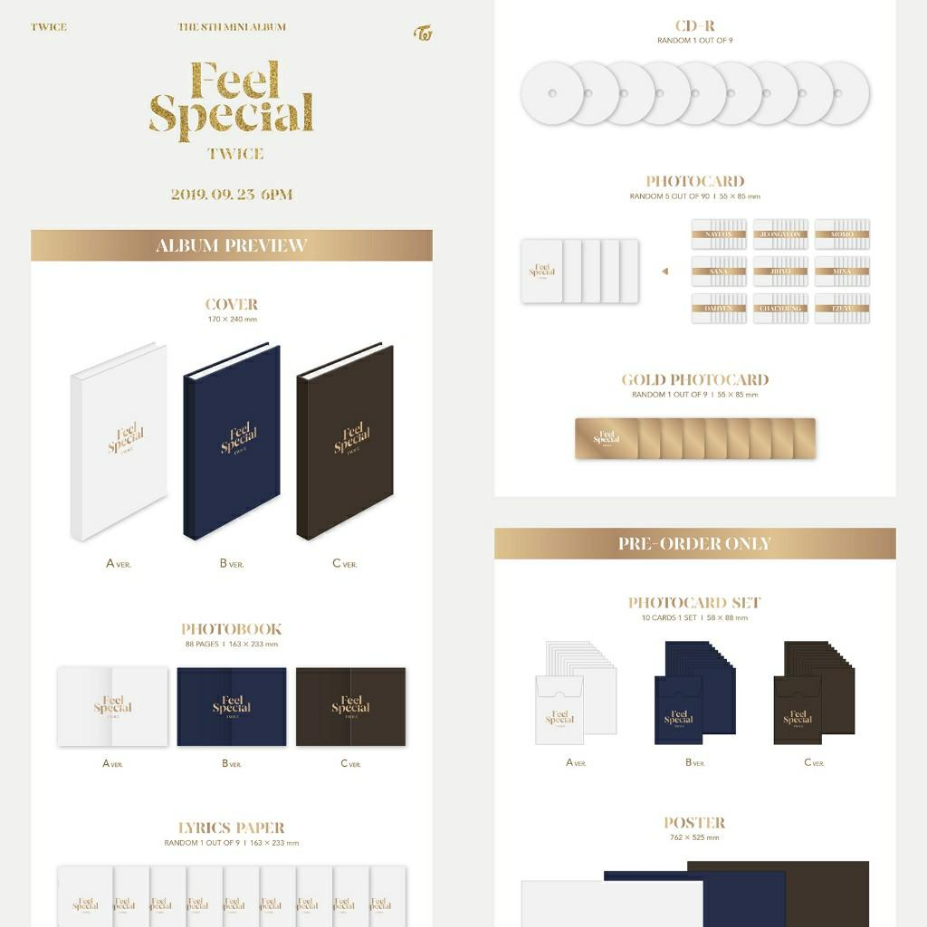 TWICE - FEEL SPECIAL + CAN CHOOSE VER + FREE FOLDED POSTER + FREE SHIPPING