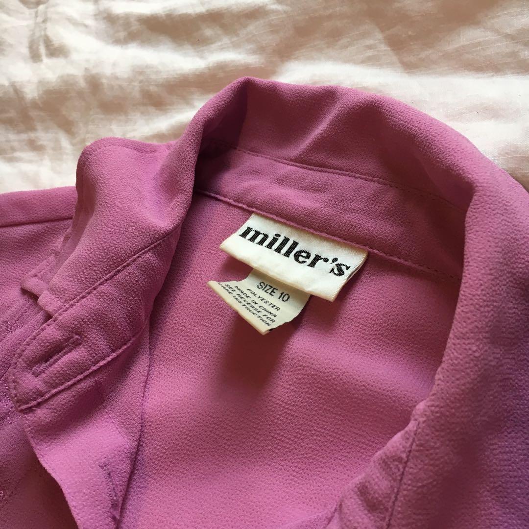 Vintage Lavender Mauve Purple Top | Ladies Size 10