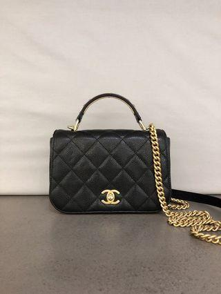Chanel Carry Chic Flap Caviar