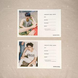 [WTS] INFINITE SUNGYEOL / SUNGJONG Real Date Card from REALITY Album