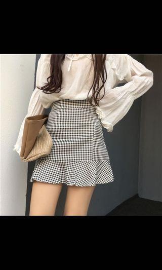 ezbuy shopee checkered Skirt