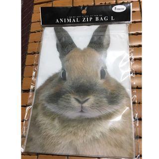 日本帶回 兔子夾鏈袋/食物保存袋 5入/組