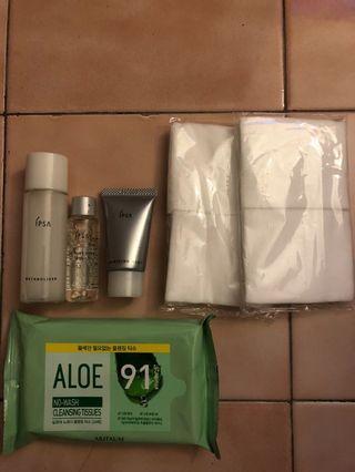 Ipsa平衡液基礎3號 、機能水、去角質、化妝棉加贈Aritaum蘆薈免洗卸妝巾(20入)
