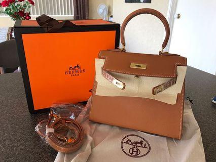 Kelly leather bag 25cm
