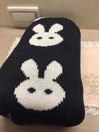 兒童針織毯 兔子寶寶 雙面柔軟舒適