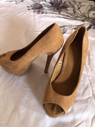 Forever21 light brown heels