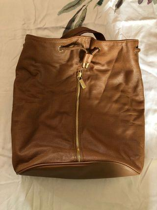 Light brown backpack