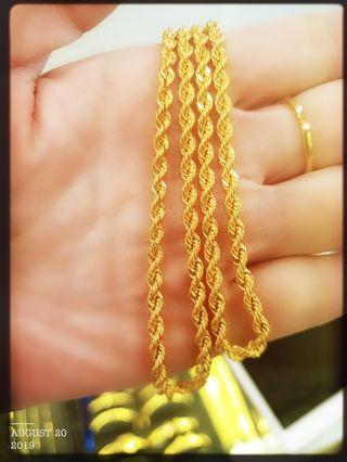 Gold 916 Rope Chain