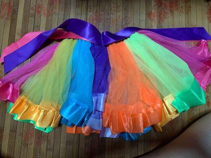Girls Rainbow Tutu