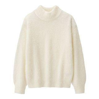 GU-女裝羽毛紗針織衫(長袖)-白色M-全新   降價售