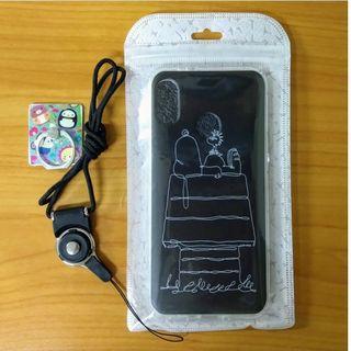 HTC U12 Life 手機殼 空壓殼 磨砂質感 黑白手繪線條 SNOOPY 史努比