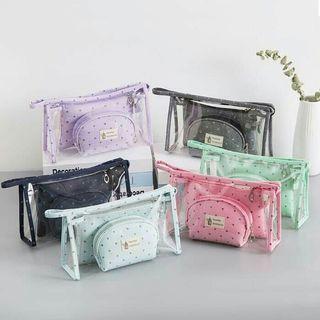 Jual tas kosmetik 3 in 1 korean beauty bag murah