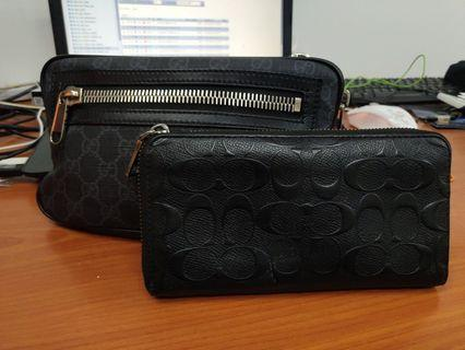 Combo - Original Gucci Pouch Bag + Original Coach Purse