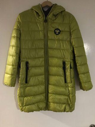 Winter jacket lime green