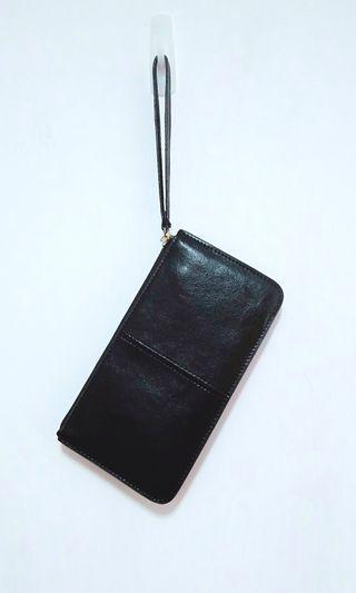 購物贈送 黑色三層手拿包