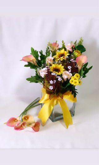Artificial Flower Vase Arrangement (Regular)