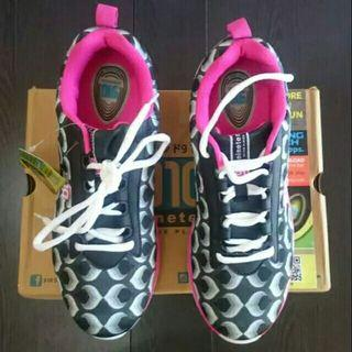 Sepatu Lari 910 Sport Shoes Nineten Hitam Pink