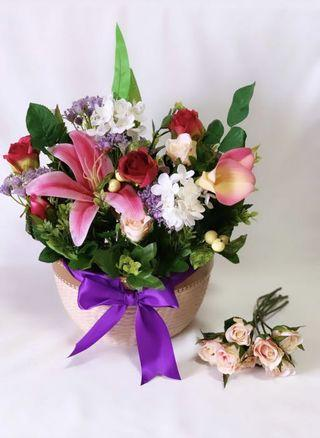Artificial Flower Vase Arrangement