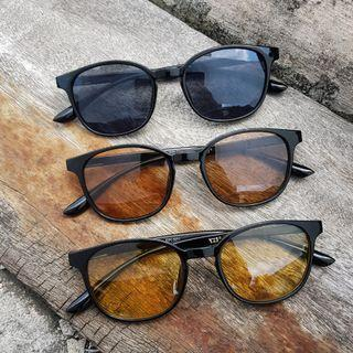 BLOOM D SUNGLASSES WITH BLACK//BROWN//YELLOW LENS