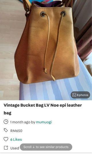 Vintage LV bucket Noe bag epi leather