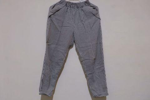 女用九分條紋長褲 vintage