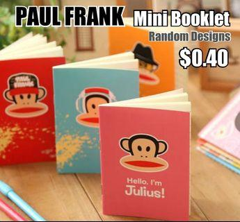 Children Day Gift, Paul Frank Mini Booklet, Notebook, Stationery, Birthday, Christmas, Party, Gifts, Goodie Bag