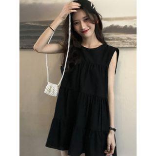 T2-307Babydoll Dress   PINK/BLACK/WHITE