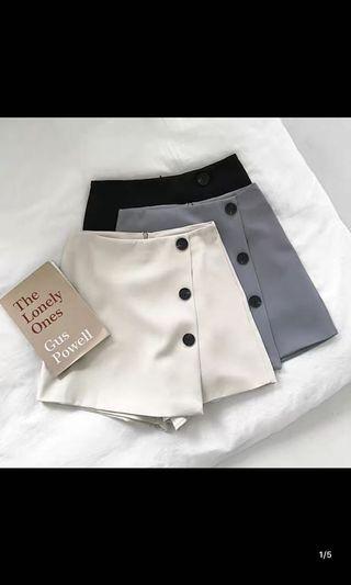 灰色鈕扣高腰西裝褲❤️#五折出清女裝