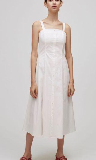 Our Second Nature OSN Button-Down Fitted Dress White