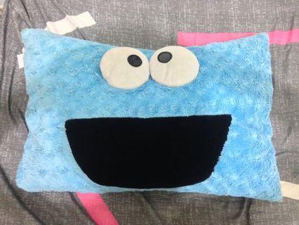 芝麻街elmo娃娃 枕頭 日本超人氣 Sesame Street Cookie Monster