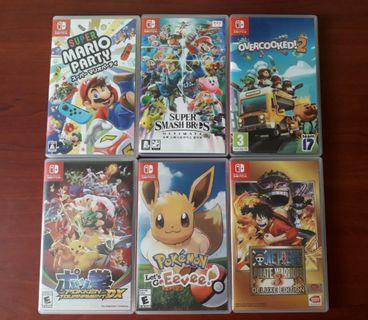 Rental of switch games