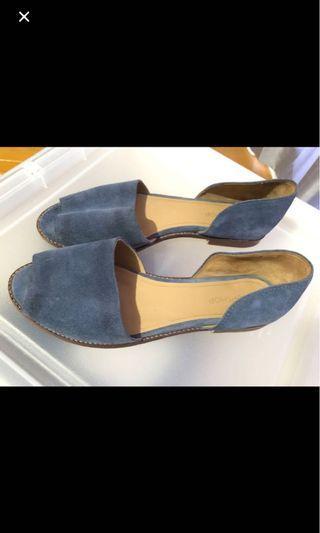Topshop Blue Suede Sandals