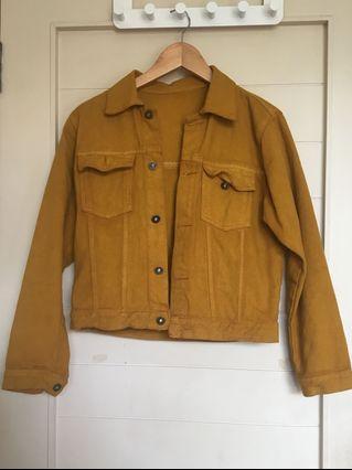 Yellow Mustard Denim Jacket #Chopecarousell