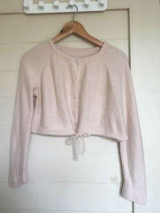 Pink Crop Top knitted