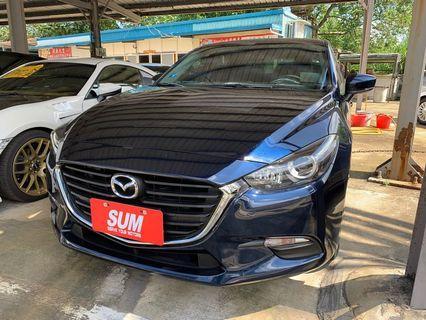 2017 Mazda 魂動馬3 2.0 藍🚗