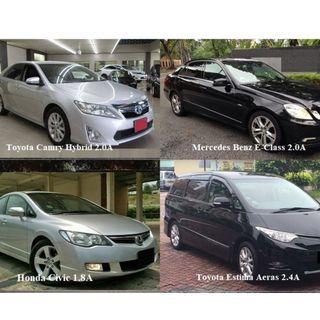Camry Hybrid / Toyota Estima / Mercedes Benz for Long Term Rental. Call: 91018983