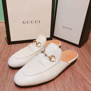 Gucci 白色懶人拖 正品