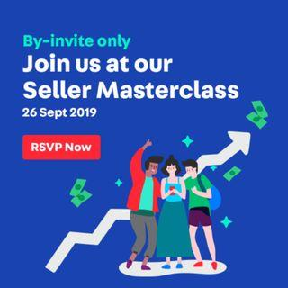 By-invite only: Seller Masterclass