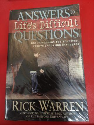 Answers to Life's Difficult Questions (by Rick Warren)