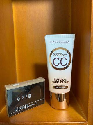 Maybelline CC霜&1028雙效定型眉餅盒