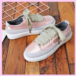 Sneakers korea pink color satin #ShareTheLove
