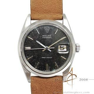 Rolex Oyster Precision 6694 Black Patina Dial Vintage Watch (1967)