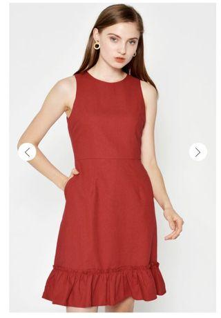 BNWT Love And Bravery Abigail Sheath Dress in Red
