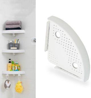 免鑽孔浴室收納架