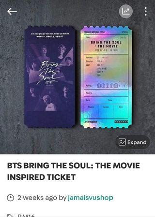 BTS BRING THE SOUL INSPIRED TICKET