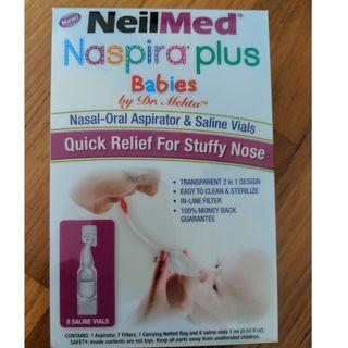 Nasal-Oral aspirator and saline vials