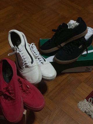Vans and Puma sneakers