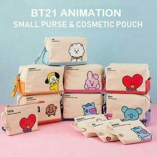 Small purse & cosmetics bag BT21 animation edition