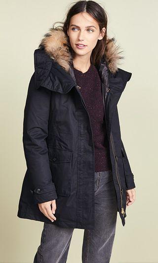 現貨*可刷卡可分期 ** 全新 WOOLRICH  Scarlett eskimo 毛皮 大衣 外套 XS
