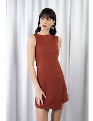 Play dress Jacinta Work Dress in Brick Rust Brown